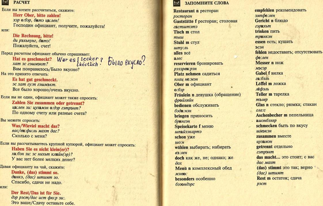 сочинение мое питание на немецком